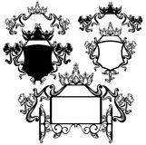 Ensemble royal de conception Image libre de droits
