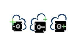 Ensemble sûr de chambre forte de nuage de document de Digital Photo libre de droits