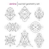 Ensemble sacré de la géométrie illustration de vecteur