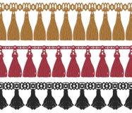 Ensemble sans couture de frange colorée Image stock