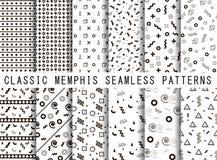 Ensemble sans couture de modèle de Memphis Photos stock