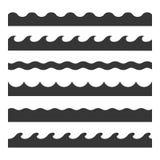 Ensemble sans couture de modèle de vague Descripteur de vecteur illustration de vecteur