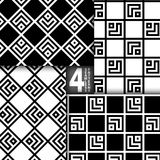 Ensemble sans couture de modèle de vecteur géométrique simple Photo libre de droits