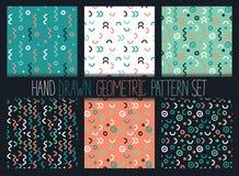 Ensemble sans couture de modèle de vecteur Milieux géométriques abstraits avec des formes et des lignes Images libres de droits