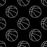 Ensemble sans couture de mod?le de boule de basket-ball Fond de sport illustration libre de droits