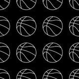 Ensemble sans couture de mod?le de boule de basket-ball Fond de sport illustration de vecteur