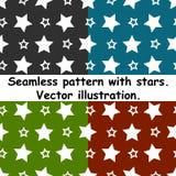 Ensemble sans couture de vecteur d'illustration de modèle d'étoile Images libres de droits
