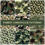 Ensemble sans couture de vecteur de modèle de camouflage Photographie stock