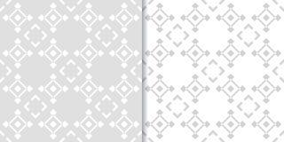 Ensemble sans couture gris abstrait de modèle Forme géométrique Photographie stock