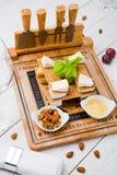 Ensemble savoureux de casse-croûte de fromage Photo libre de droits