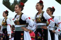 Ensemble serbe de danse folklorique image libre de droits
