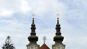 Ensemble of Serbian buildings in Timisoara, Romania stock footage
