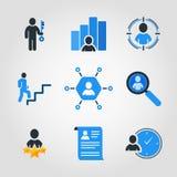 Ensemble simple d'icônes colorées de vecteur d'affaires Contient une telle icône Photo stock