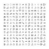 Ensemble simple d'icônes relatives d'ensemble de finances illustration de vecteur