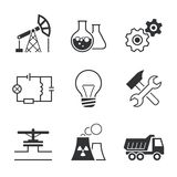 Ensemble simple d'icône de vecteur d'industrie Photos libres de droits