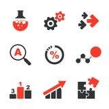 Ensemble simple d'icône de vecteur de recherches illustration stock