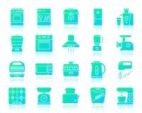Ensemble simple de vecteur d'icônes de gradient d'appareils de cuisine illustration stock