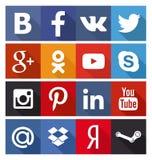 Ensemble social d'icône Image stock