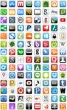Ensemble social de bouton de boutons de réseau de media illustration libre de droits