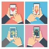 Ensemble social de mise en réseau Image stock