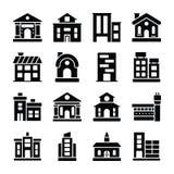 Ensemble solide d'icônes d'architectures illustration stock