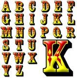 Ensemble spécial de conception d'alphabet d'ABC Images libres de droits