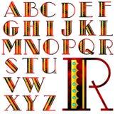 Ensemble spécial de conception d'alphabet d'ABC Photos libres de droits