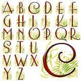 Ensemble spécial de conception d'alphabet d'ABC Photos stock