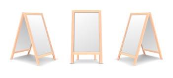 Ensemble spécial réaliste d'icône de conseil d'annonce de menu Fond extérieur de panneau blanc de restaurant propre de vecteur Ma illustration stock