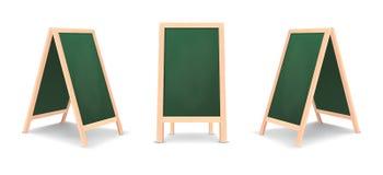 Ensemble spécial réaliste d'icône de conseil d'annonce de menu Fond vert extérieur de panneau de restaurant propre de vecteur Maq illustration stock