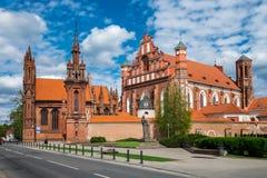 Ensemble of st Anne and Bernardine church in Vilnius, Li Stock Image