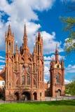 Ensemble of st Anne and Bernardine church. Vilnius, Lithuania. Royalty Free Stock Photo