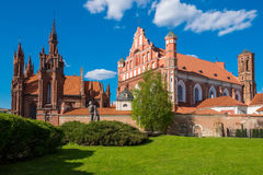 Ensemble of st Anne and Bernardine church. Vilnius, Lithuania. Royalty Free Stock Photos