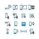Ensemble technolgy d'icône de NFC Photographie stock