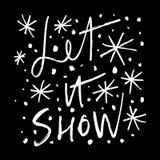 Ensemble tiré par la main d'icônes de vecteur de flocons de neige, calomnie de brosse Thème de l'hiver illustration de vecteur