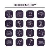 Ensemble tiré par la main de griffonnage de biochimie croquis Illustration de vecteur pour le produit de conception et de paquets illustration de vecteur