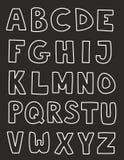 Ensemble tiré par la main de vecteur de lettres d'alphabet d'isolement dessus Image libre de droits