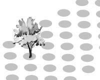 Ensemble tiré par la main et d'aquarelle d'arbre Images libres de droits
