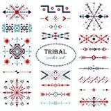 Ensemble traditionnel coloré de vecteur Brosse de lecture dans le style tribal illustration libre de droits