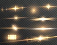 Ensemble transparent d'effet de fusée de lentille de vecteur illustration de vecteur