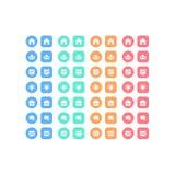 Ensemble universel d'icônes de Web pour des affaires, des finances et la communication Photos libres de droits