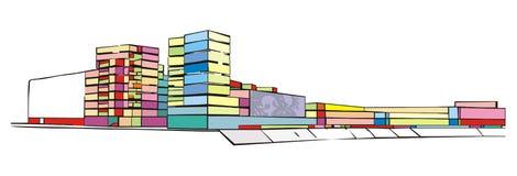 Ensemble urbain illustration stock