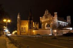 Ensemble van St.Anna chuch en Kerk Bernardine Stock Fotografie