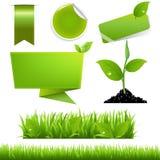 Ensemble vert d'Eco Photographie stock