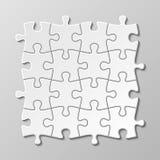 Ensemble vide blanc de vecteur de morceau de puzzle illustration libre de droits