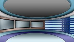 Ensemble virtuel de studio d'actualités de TV Images stock