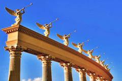 Ensemble of winged trumpeters Royalty Free Stock Image