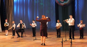 Ensemble of young musicians Royalty Free Stock Images