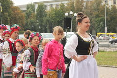 An ensemble of young Ukrainians Stock Images