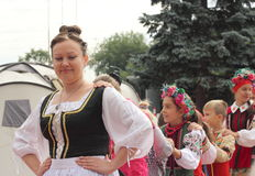 An ensemble of young Ukrainians Royalty Free Stock Photography